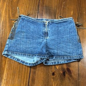 Jordache Side Laceup Jean Shorts